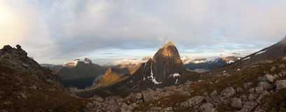Segla-Berg, Norwegen, Senja Lizenzfreies Stockfoto