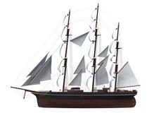 Segla det isolerade skeppet Arkivfoto