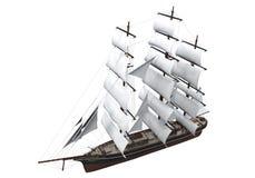 Segla det isolerade skeppet Arkivbild