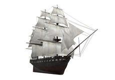 Segla det isolerade skeppet Fotografering för Bildbyråer