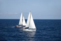segla för fartyg Arkivfoto