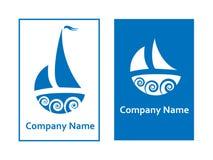 segla för logoer Arkivfoton
