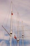segla för masts arkivfoto