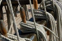 segla för rep Fotografering för Bildbyråer