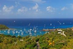 Segla fartyg på Antigua Royaltyfri Foto