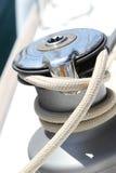 Segla fartygwinchen Royaltyfria Foton