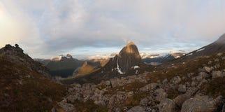 Segla góra, Norwegia, Senja Zdjęcia Stock