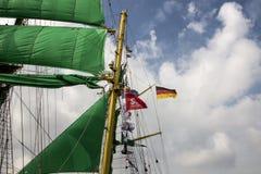 Segla i Amsterdam Alexander von Humboldt 2015 2 Royaltyfri Foto