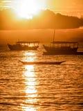 Segla i brasilianska stränder Arkivfoto