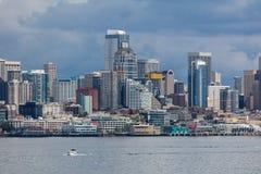 Segla i Seattle Royaltyfria Foton