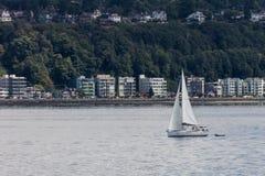 Segla i Seattle Arkivfoton