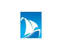 Segla Logo Template Design Vector, emblemet, designbegreppet, det idérika symbolet, symbol Royaltyfria Bilder