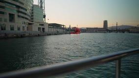Segla loppet Segla i det Aegean havet Lyxig yacht stock video