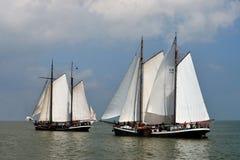 Segla loppet på sjöijsselmeer, Nederländerna Royaltyfri Fotografi