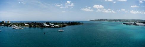 Segla marina på dagsljus i Montego Bay - Jamaica Arkivfoton