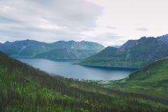Segla Mountain, Senja, Norway. View to Segla Mountain in Senja Norway Stock Photos