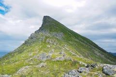 Segla Mountain, Senja, Norway. View to Segla Mountain in Senja Norway Stock Image