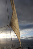 segla okänt väder Royaltyfria Bilder