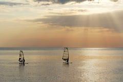 Segla på havet Royaltyfria Bilder