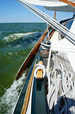 Segla på IJsselmeeren Royaltyfri Fotografi