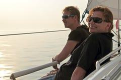 Segla på IJsselmeeren i Nederländerna Royaltyfri Fotografi