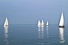 Segla på IJsselmeeren i Nederländerna Arkivfoto