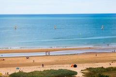 Segla på Normandie Royaltyfria Bilder