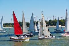 Segla regatta som är hängiven till årsdagen för th 266 av staden av Rostov-On-Don Arkivbilder
