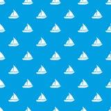 Segla sömlösa blått för yachtmodell vektor illustrationer
