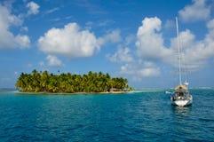 Segla Sanen Blas Islands, Panama Arkivfoto