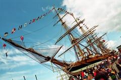 segla ship Royaltyfri Foto