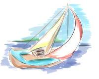 segla ship Arkivbild