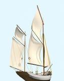segla ship vektor illustrationer