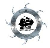 segla shipen Arkivbild