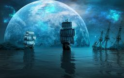 segla ships två Arkivfoton