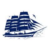 Segla skeppet stock illustrationer