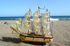 Segla skeppet Toy Model Arkivbilder