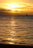 segla solnedgången Royaltyfri Foto