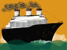 segla som är transatlantic Royaltyfri Bild