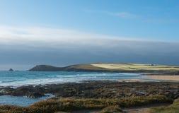 Segla utmed kusten av Cornwall Arkivbild