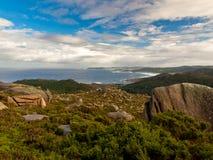 Segla utmed kusten av Dead i Camelle Galicia Fotografering för Bildbyråer
