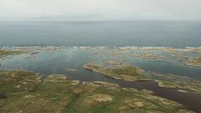 Segla utmed kusten av Norge stock video