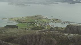 Segla utmed kusten av Norge lager videofilmer
