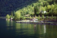 Segla utmed kusten av Norge Royaltyfri Bild