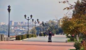 Segla utmed kusten i staden av samaraen, rysk federation Royaltyfri Bild