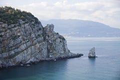 segla vaggar crimea Black Sea fotografering för bildbyråer