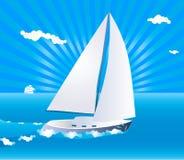 segla yacht stock illustrationer