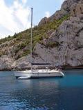 segla yacht Arkivbilder
