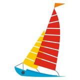 Segla yachtsymbolen vektor illustrationer