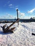 seglar baltiska tyska gammala för ankare tagen havsshipstralsund Royaltyfria Bilder
